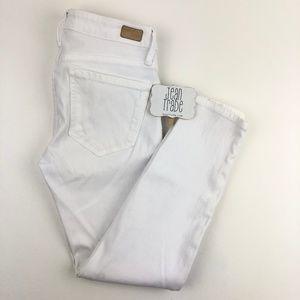 joie skinny crop white jeans